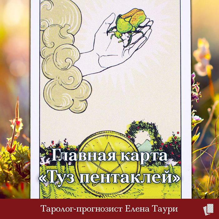 Таро главная карта недели с 8 по 14 апреля – Туз пентаклей